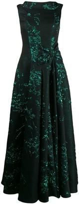 Talbot Runhof Toriel silk jacquard dressr