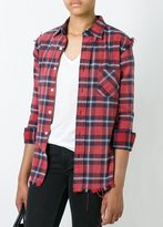 R 13 Inside Out Slim Boy Shirt Red Plaid