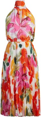 New York & Co. Petula Pleated Halter Dress - Eva Mendes Fiesta Collection