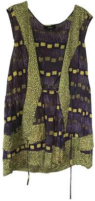 Suno Purple Cotton Dress for Women