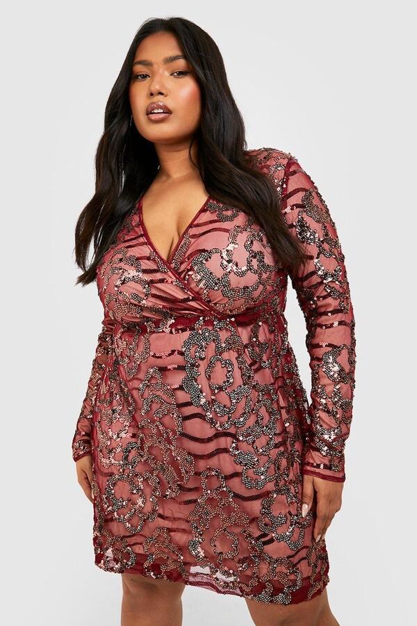 d38cf9c8ba34a boohoo Red Sequin Dresses - ShopStyle