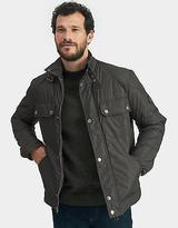 Joules Mens Padded Bomber Jacket in Edgy Harley Biker Style in Black Olive