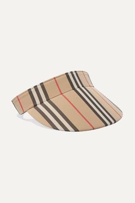 Burberry Striped Cotton-canvas Visor - Beige