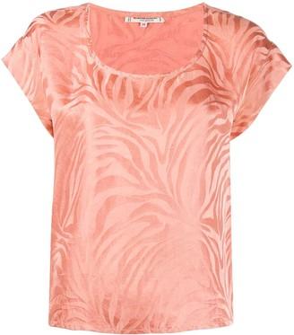 Yves Saint Laurent Pre Owned 1980s zebra print T-shirt
