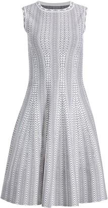 Alaia Boa-Print Dress