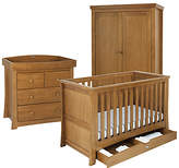 Silver Cross Canterbury Bed, Dresser and Wardrobe Set, Oak