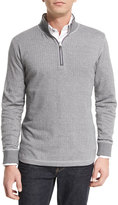 Robert Graham Alastor Chevron-Print Half-Zip Sweater