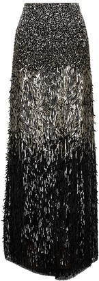 Alice + Olivia Ashton sequin-embellished maxi skirt