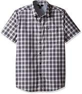 Volcom Men's Amerson Modern Fit Short Sleeve Plaid Woven Shirt
