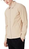 Topman Men's Herringbone Zip Jacket