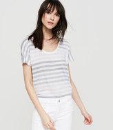 Lou & Grey Striped Linen Scoop Neck Tee
