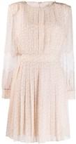 Fendi lace flared pleated dress