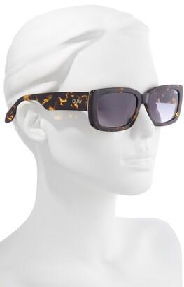 Quay Yada Yada 47mm Rectangle Sunglasses