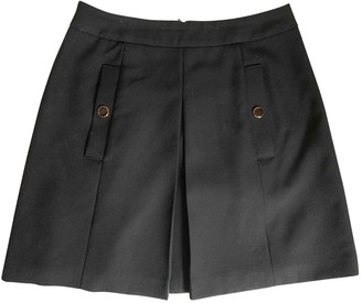 Vanessa Seward Black Wool Skirt for Women