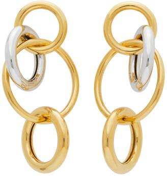 Numbering Gold and Silver 984 Hoop Earrings