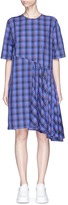 Public School 'Rima' asymmetric plaid cotton dress