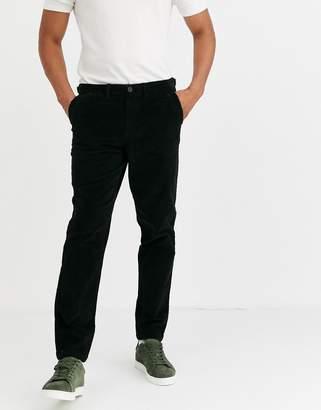 Selected cord trousers in dark grey
