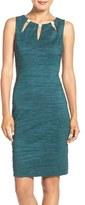 Eliza J Women's Embellished Cutout Taffeta Sheath Dress