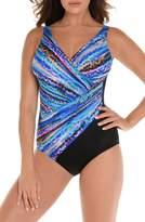 Miraclesuit R) Animal Spectrum Oceanus One-Piece Swimsuit