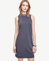 Ann Taylor Crystal Collar Shift Dress