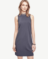 Ann Taylor Petite Crystal Collar Shift Dress