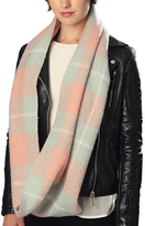 Pure Style Girlfriends Pink Check Infinity Scarf