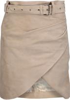 IRO Olsen wrap-effect suede mini skirt