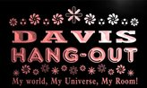 AdvPro Name pq1006-r Davis Hang Out Girl Kid's Room Light Princess Bar Neon Sign