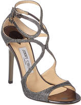 Jimmy Choo Lance Lame Glitter Fabric Sandal