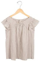 Bonpoint Girls' Cap Sleeve Gingham Top w/ Tags