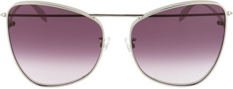 Alexander McQueen Eyewear Cat Eye Oversize Sunglasses