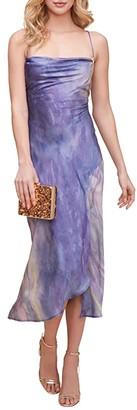 ASTR the Label Gaia Dress (Blue Multi Tie-Dye) Women's Dress