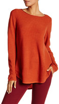 Eileen Fisher Ballet Neck Hi-Lo Wool Tunic