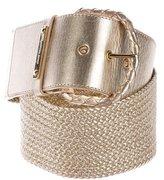Michael Kors Metallic Woven Belt