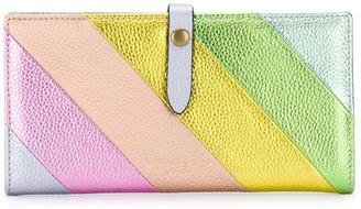 Kurt Geiger K Soft diagonal-stripe wallet