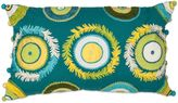 Kas Circles Oblong Throw Pillow in Aqua Multi