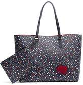 Tommy Hilfiger Reversible Starry Tote + Pouch