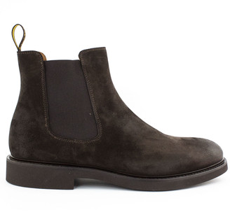 Doucal's Brown Suede Chelsea Boot Doucals