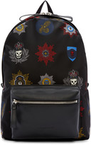 Alexander McQueen Black Nylon Badges Backpack