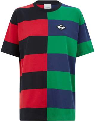 Burberry Cotton Block-Stripe T-Shirt