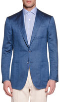 Stefano Ricci Wool-Silk Two-Button Sport Coat, Blue