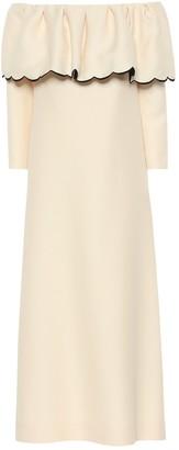 Valentino Off-the-shoulder crepe dress