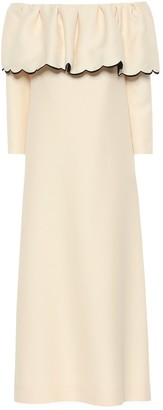 Valentino off-the-shoulder crepe dress