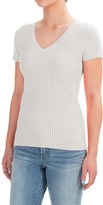 Jeanne Pierre Baby Cable Sweater - Short Sleeve (For Women)