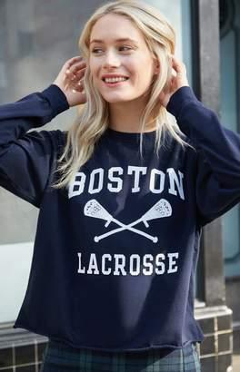 LaCrosse John Galt Boston Long Sleeve Cropped T-Shirt