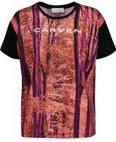 Carven Printed Cotton-Jersey T-Shirt