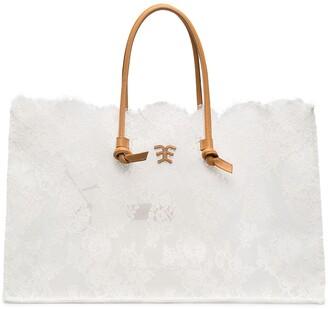Ermanno Scervino Lace Tote Bag