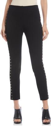 Karen Kane Studded Piper Skinny Ankle Pants