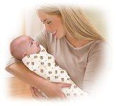 Summer Infant 2 Pack Cotton Knit Swaddleme, Green/White