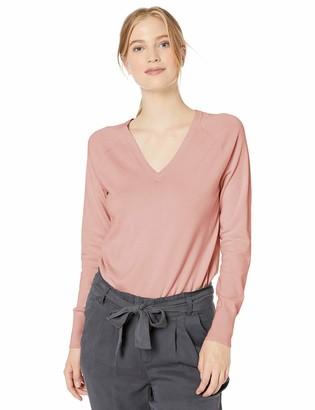 Daily Ritual Amazon Brand Women's Fine Gauge Stretch V-Neck Pullover Sweater